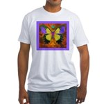 Psychedelic Butterfly Fitted T-Shirt