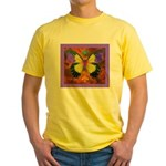 Psychedelic Butterfly Yellow T-Shirt