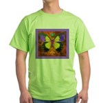 Psychedelic Butterfly Green T-Shirt