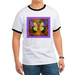 Psychedelic Butterfly Ringer T