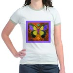 Psychedelic Butterfly Jr. Ringer T-Shirt