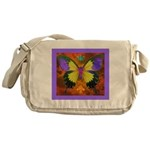 Psychedelic Butterfly Messenger Bag