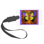 Psychedelic Butterfly Large Luggage Tag