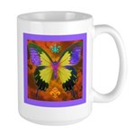 Psychedelic Butterfly Large Mug