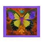 Psychedelic Butterfly Throw Blanket