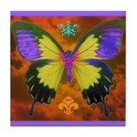 Psychedelic Butterfly Tile Coaster
