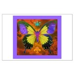 Psychedelic Butterfly Large Poster