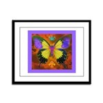 Psychedelic Butterfly Framed Panel Print