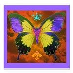Psychedelic Butterfly Square Car Magnet 3