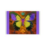 Psychedelic Butterfly Rectangle Magnet (10 pack)