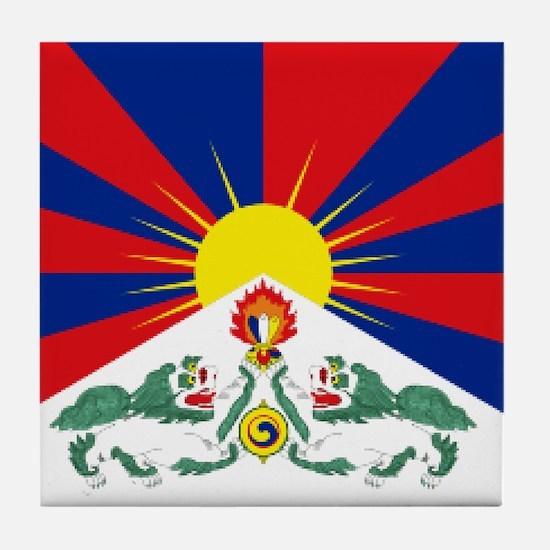 Tibet flag Tile Coaster
