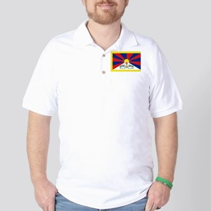 Tibet flag Golf Shirt