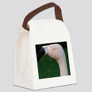 Profile of a Pink Flamingo Canvas Lunch Bag