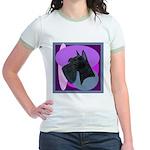 Giant Schnauzer Design Jr. Ringer T-Shirt