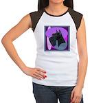 Giant Schnauzer Design Women's Cap Sleeve T-Shirt