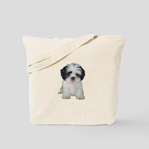 Shih Tzu (bw) pup Tote Bag