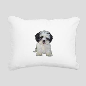 Shih Tzu (bw) pup Rectangular Canvas Pillow