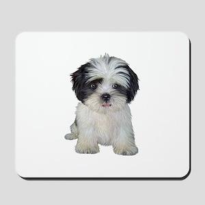 Shih Tzu (bw) pup Mousepad