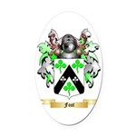 Foot Oval Car Magnet