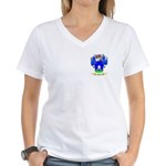 Fonts Women's V-Neck T-Shirt