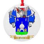 Fontin Round Ornament