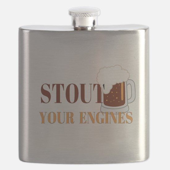 Stout Your Engines Flask