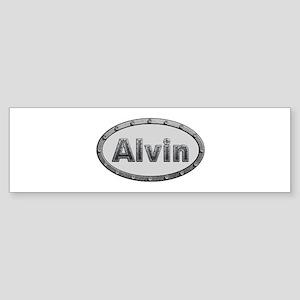 Alvin Metal Oval Bumper Sticker