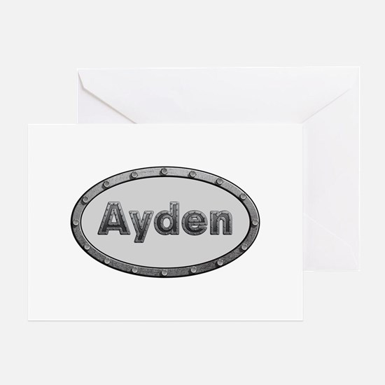 Ayden Metal Oval Greeting Card