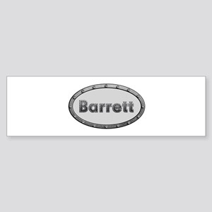 Barrett Metal Oval Bumper Sticker