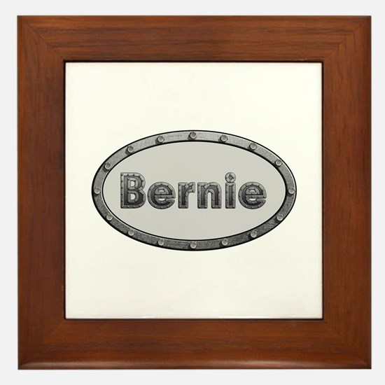 Bernie Metal Oval Framed Tile
