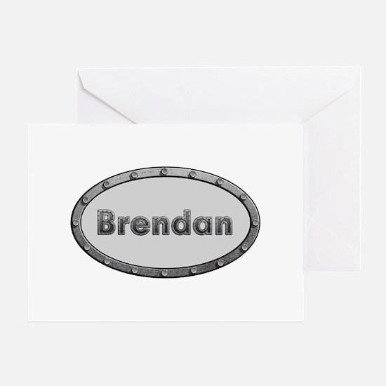 Brendan Metal Oval Greeting Card