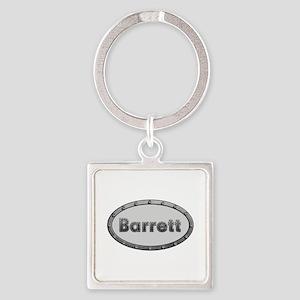 Barrett Metal Oval Square Keychain