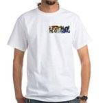 Fire Drake and Sea Serpent White T-Shirt