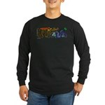 Fire Drake and Sea Serpent Long Sleeve Dark T-Shir
