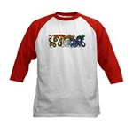 Fire Drake and Sea Serpent Kids Baseball Jersey