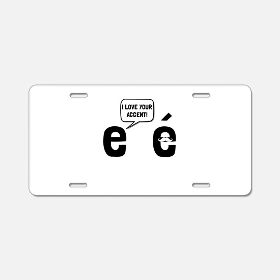 Love Accent Aluminum License Plate