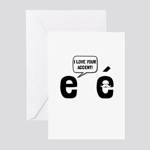 Love Accent Greeting Cards