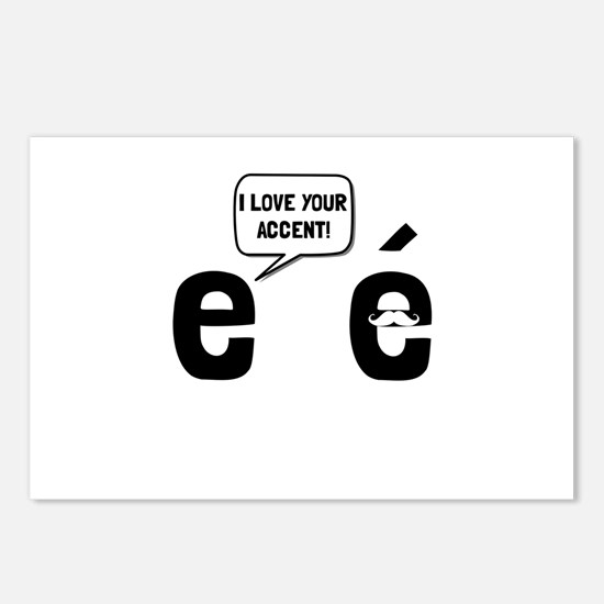 Love Accent Postcards (Package of 8)