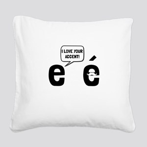 Love Accent Square Canvas Pillow