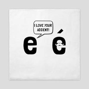 Love Accent Queen Duvet