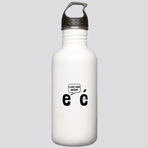 Love Accent Water Bottle