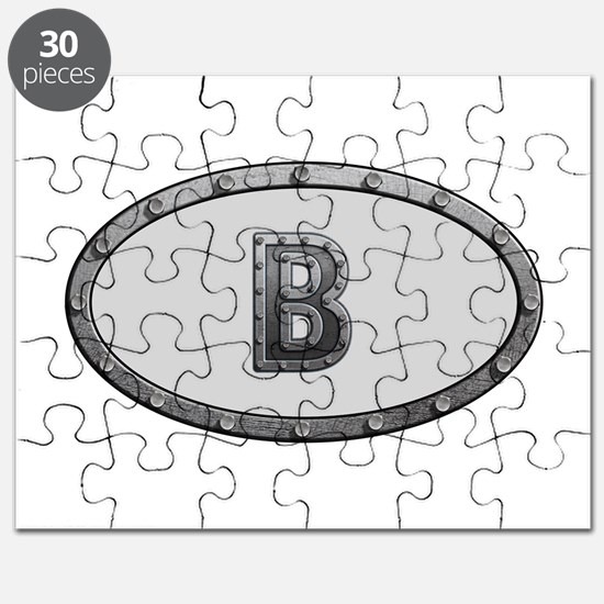 B Metal Oval Puzzle