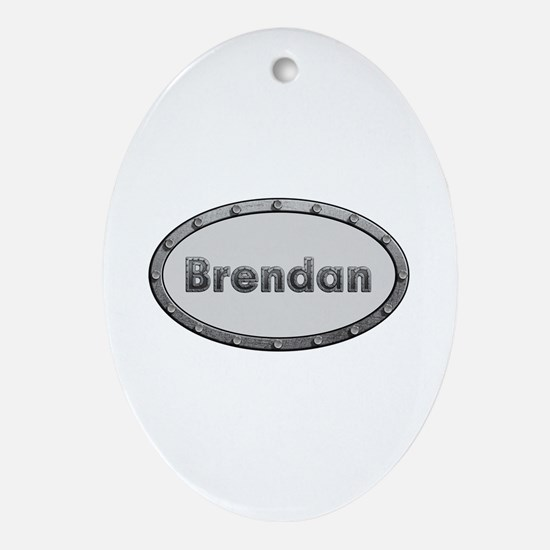 Brendan Metal Oval Oval Ornament