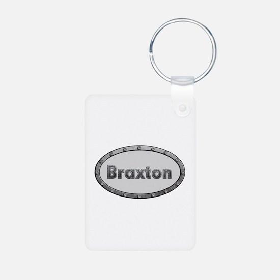Braxton Metal Oval Aluminum Keychain