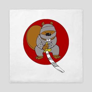 Ninja Beaver Queen Duvet