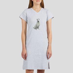 White Akita Women's Nightshirt
