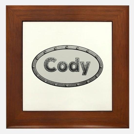 Cody Metal Oval Framed Tile