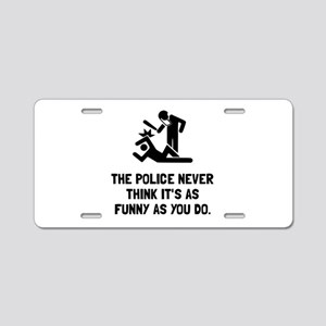 Police Funny Aluminum License Plate