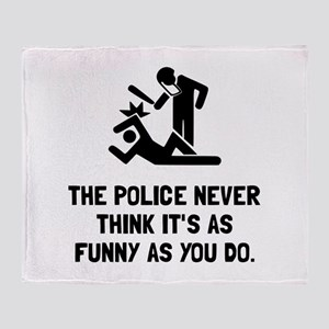 Police Funny Throw Blanket