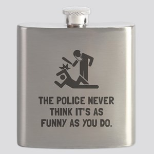 Police Funny Flask
